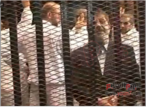 Brotherhood supporters tried to attack reporters in Morsi trial 4 Nov 2013 (6)