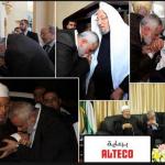 Ismail Haneya leader of Hamas terrorists group kissing the hands of Qaradawi