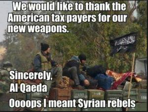 Obama supports Al Qaeda terrorists who slaughter Christians in Syria