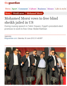 Mohamed Morsi vows to free blind sheikh convicted in terrorists attacks