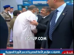 Mohamed mursi with Assem Abd Elmaged the leader of Gamaa islamiya who assassinated police and military individuals in the 90's