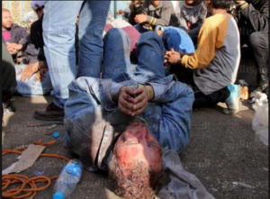 Former Ambassador of Egypt in Venezuela Yehia Zkaria Negm tortured by Muslim Brotherhood in front of Etihadeya presidential palace 5 december 2012