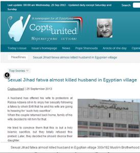 Muslim Brotherhood aggression against women in Egypt