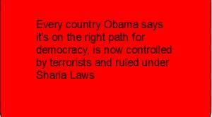 Obama supports terrorists