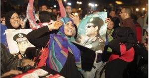 Egyptians celebrate Sisis's victory in the presidential elections 2014