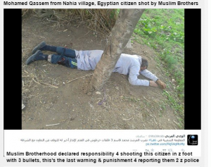 Muslim Brotherhood shot Mohamed Qassem Egyptian citizen in his foot for reporting terrorists to the police (2)