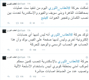 muslim brotherhood posting the outcome of injuries in police ranks after terror attacks on 25 Jan 2015