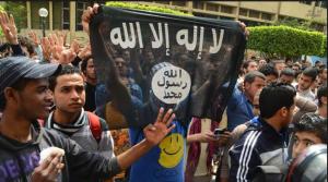 Muslim Brotherhood raising the flag of ISIS in Cairo