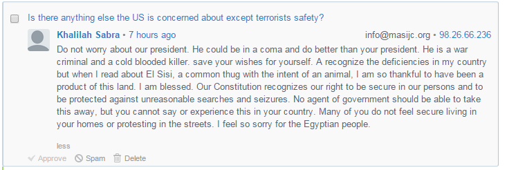 Khalila Sabra insults to Egypt and Egyptian people