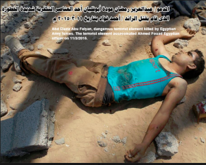 Abd Elaziz Abu Felyan terrorist element killed by egyptian army forces May 2015 in Sinai‬