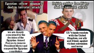 Obama double standards egypt
