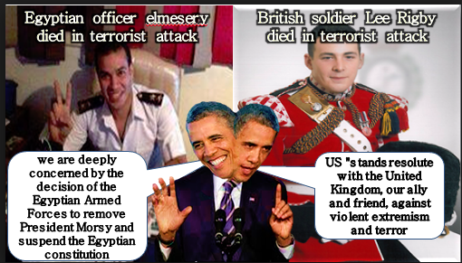 Obama double standards egypt