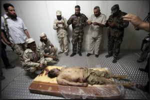 gaddafi tortured and humiliated